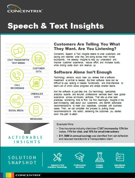 Speech & Text Insights | Concentrix Fact Sheet