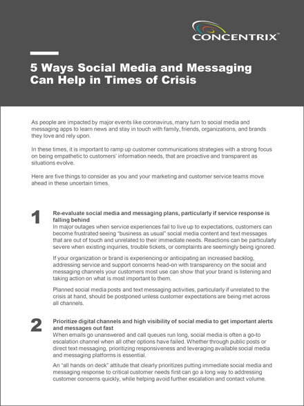 5 Ways Social Media and Messaging Can Help in Times of Crisis