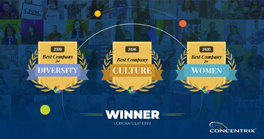 Concentrix Celebrates Major Wins in Categories Voted on by Staff