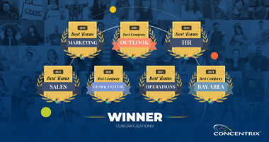 Global Concentrix staff win big in 2021 Q1 Comparably Awards
